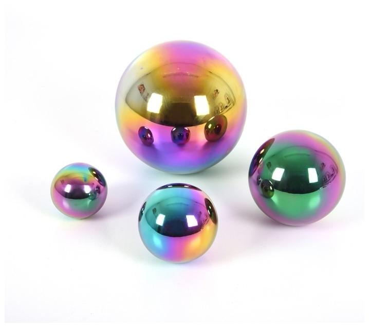 Bolas reflectantes de acero inoxidable tornasolado