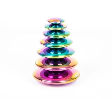 Botones sensoriales reflectantes tornasolados