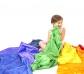 Telas de colores de poliéster