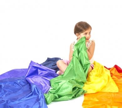 Teles de colors de polièster