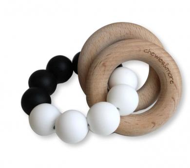 Mossegador per nadó amb anella de fusta i silicona