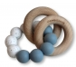 Mordedor para bebé con anilla de madera y silicona
