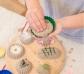 4 moldes de arena pequeños