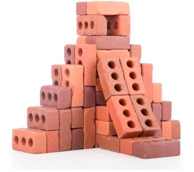 Joc de construcció amb petits maons