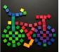 Puzzle Magnético Cuadrados de Colores