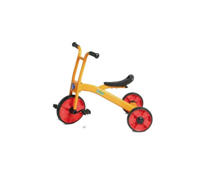 Triciclo metálico para patios escolares