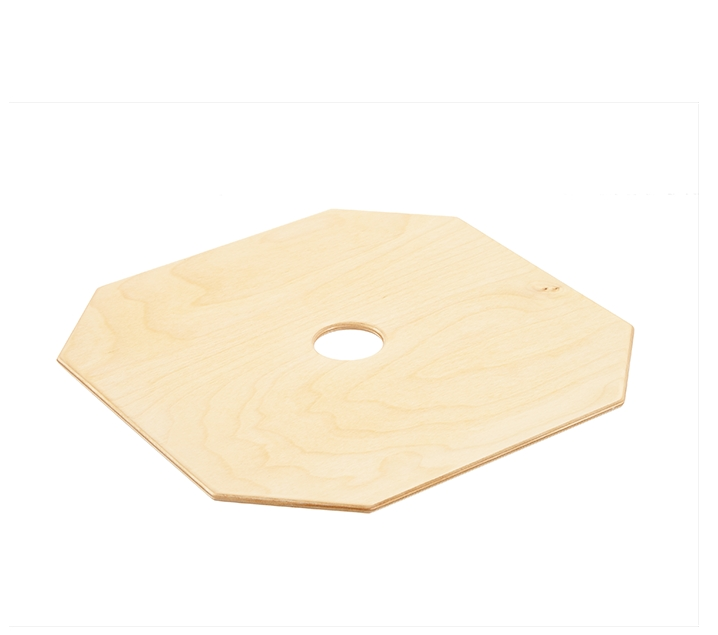 HENGSTENBERG. Tapa cuadrada de madera para taburete