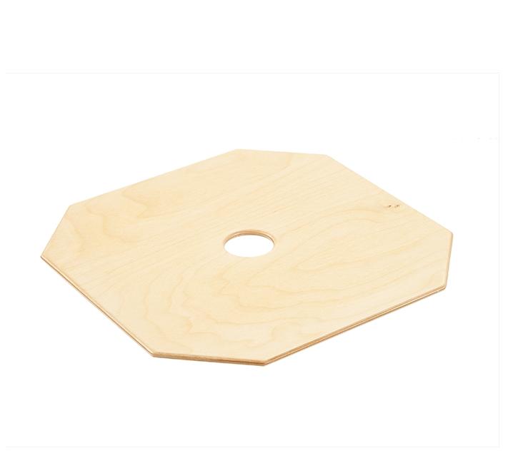 Hengstenberg. Tapa quadrada de fusta per tamboret