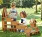 Blocs grans de fusta per a construccions a l'exterior