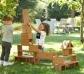 Bloques grandes de madera para construcciones en el exterior