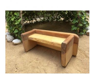 Banco de madera con dos posiciones