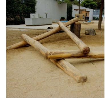 Troncos de equilibrio para patios escolares