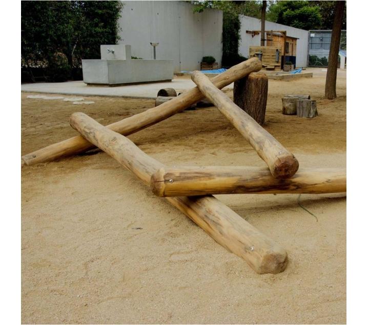 Troncos de equilibro para patios escolares