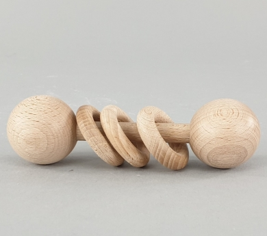 Sonajero con anillas grandes Montessori
