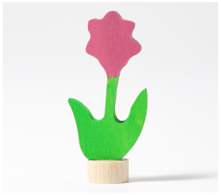 Grimm's. Figura celebraciones flor rosa