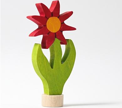 Grimm's. Figura celebraciones flor roja