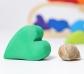 Conjunto de corazones arco iris Grimm's