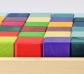 36 cubs de tons pastel