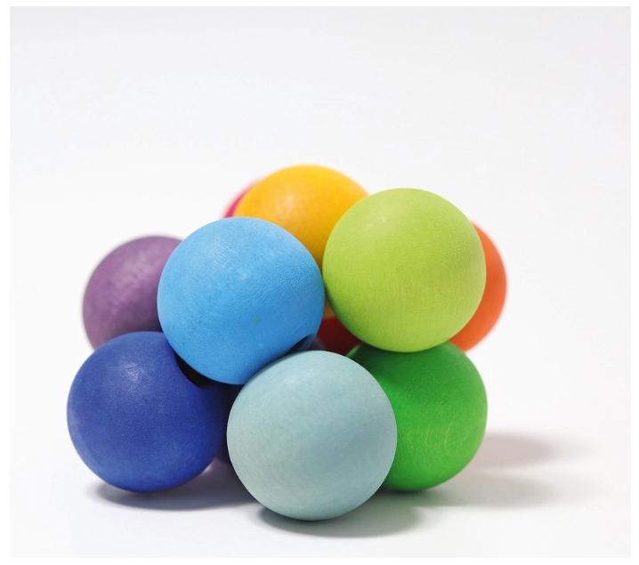 Pulsera de bolas de colores
