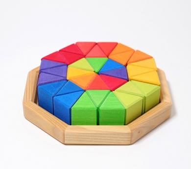 Puzzle Octágono Mediano de Madera