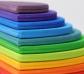 Semicírculos de colores para el arco iris Waldorf