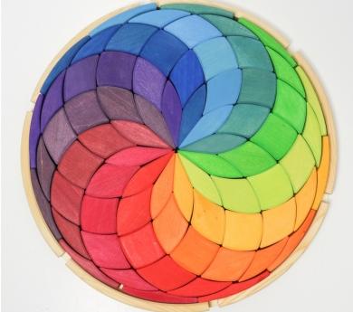 Mandala de Fusta Espiral Gran