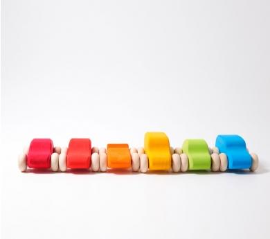 Coches pequeños de colores