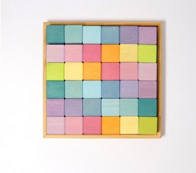 36 cubos en todos pastel