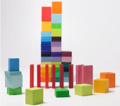 Pista de fichas y bloques Farben