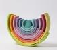 Arco iris Waldorf grande tonos pastel