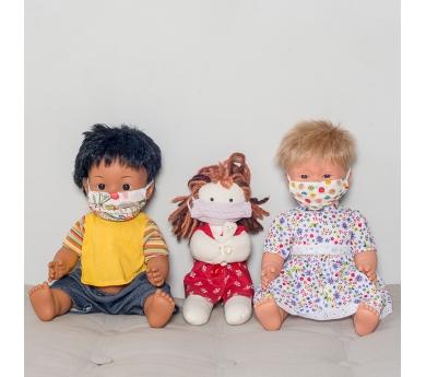 Mascarilla de tela para muñeca o muñeco