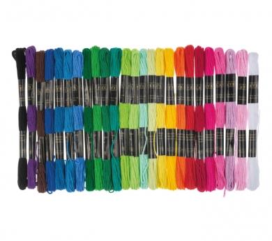 5 hilos de algodón para bordar
