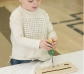 Conjunto de aprendizaje con herramientas reales Montessori