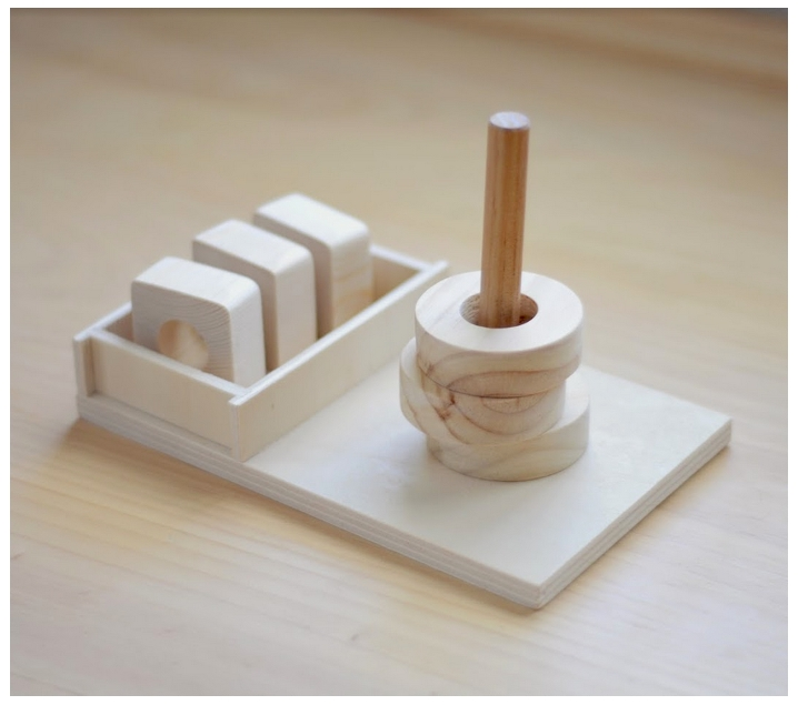 Clavilla evolutiva Montessori 3 en 1
