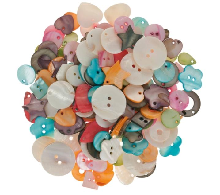 100 de botones nacarados