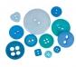 100 g. de botones azules
