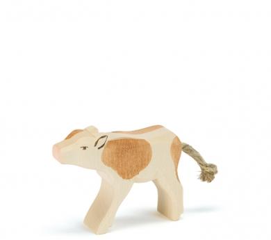 Figura de madera Ostheimer - Becerro marrón mamando