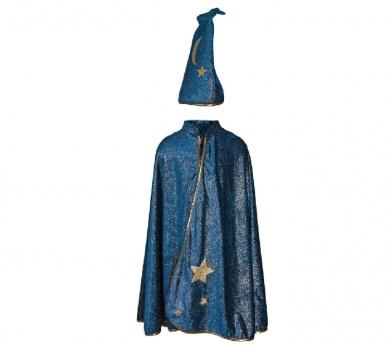 Disfraz de capa mago/a de noche estrellada
