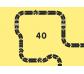 Carretera de caucho Way to play 40 piezas