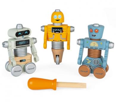 Robots para armar Brico'kids de madera