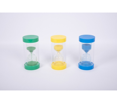 Conjunto de relojes de arena de 1, 3 y 5 min.