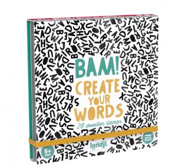 Tampons de lletres Bam! words