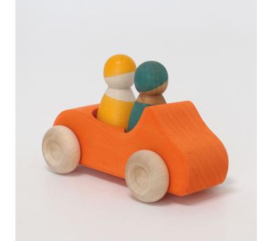Cotxe taronja de fusta gran