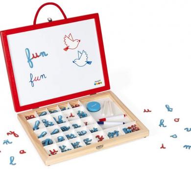Maletín 4 en 1 con letras cursivas afín a Montessori