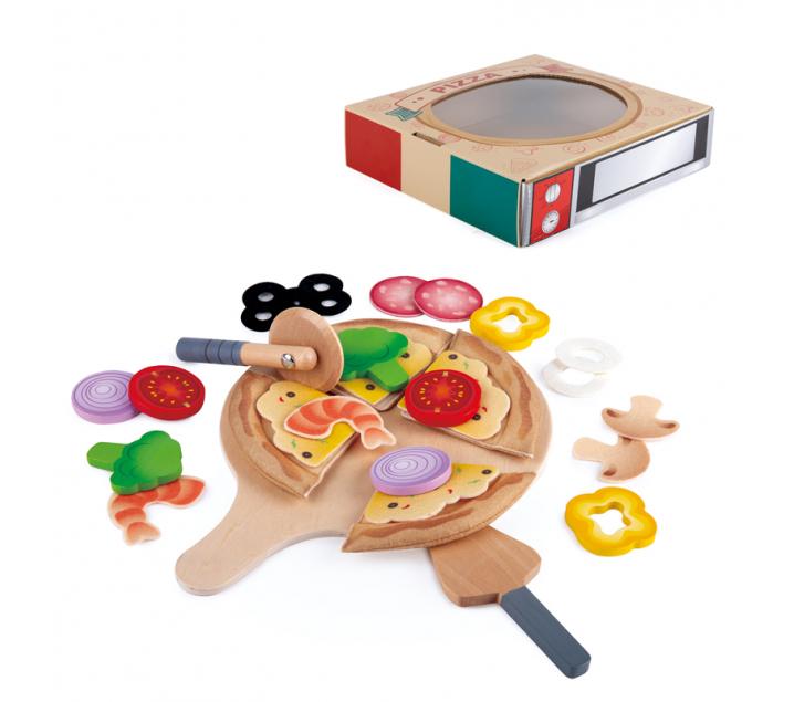 Pizza con bandeja de juguete