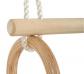 Trapezi amb anelles de fusta