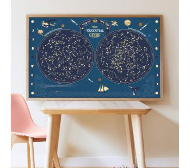 Constelaciones, gran poster con 640 pegatinas