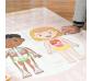 El cuerpo humano, gran poster con 49 pegatinas