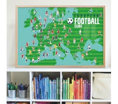 Fútbol, gran poster con 60 pegatinas