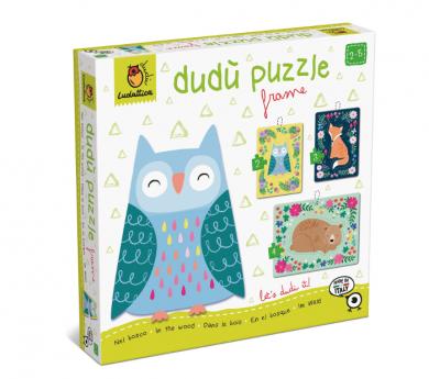 3 puzles con marco de 2, 3 y 4 piezas - EL BOSQUE